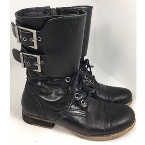 Matisse lance Black Grunge Combat Boots Punk 6